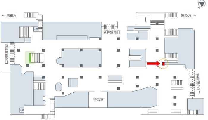 新幹線新大阪駅看板掲出位置・大型シート広告